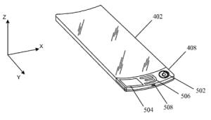Bendable segment –iWatch U.S. Apple patent