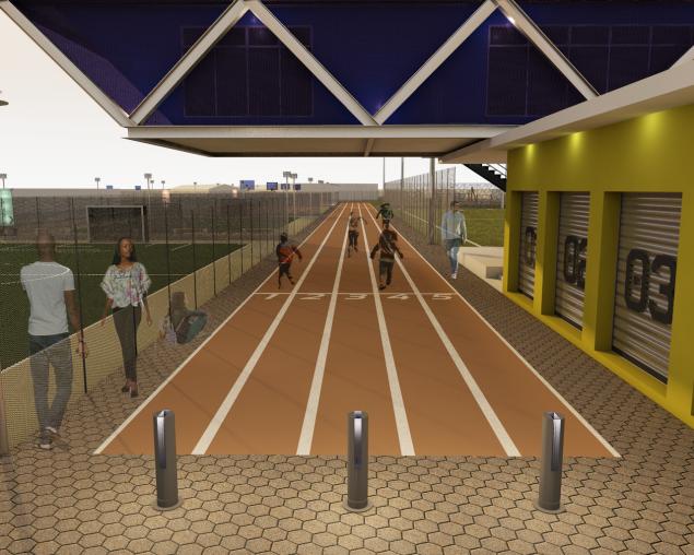 100m Athletics Track